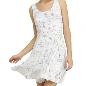 Hundred acre woods map dress